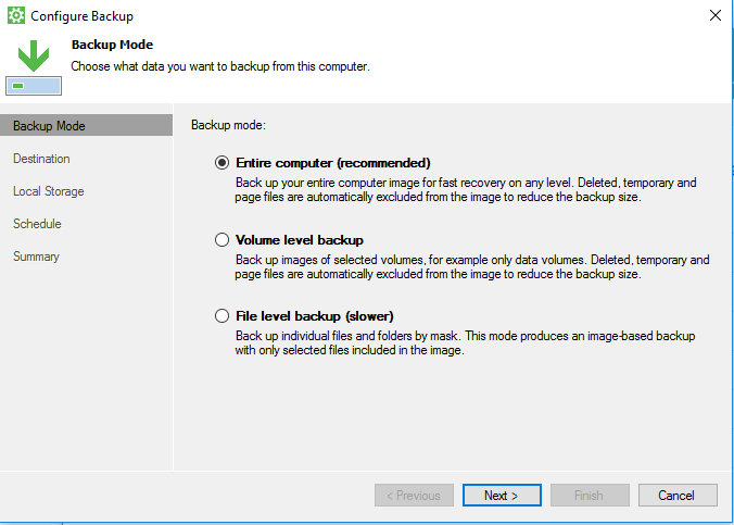 Veeam Agent for Windows Workstation – Backup Direct to Cloud